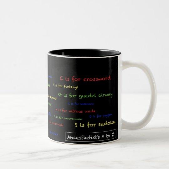 Anaesthetist's A to Z Mug - black