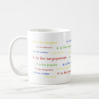 Anaesthetist's A to Z Mug - white