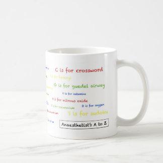 Anaesthetist's A to Z Mug - white