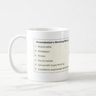 Anaesthetist's Morning Checklist Mug