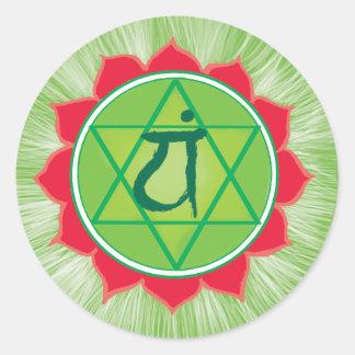 Anahata Heart Chakra Classic Round Sticker, Matte Round Sticker