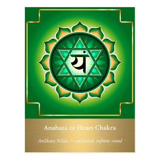 Anahata or Heart Chakra Postcard
