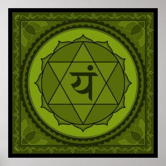 Anahata or heart chakra Poster