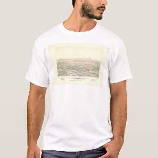 Anaheim, CA. Panoramic Map (0025A) - Restored T-Shirt