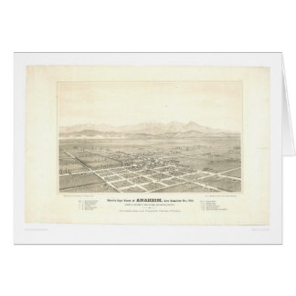Anaheim, CA. Panoramic Map (0025A) - Unrestored Greeting Card
