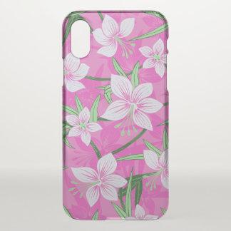Anaina Hou Hawaiian Tropical Floral- Pink iPhone X Case