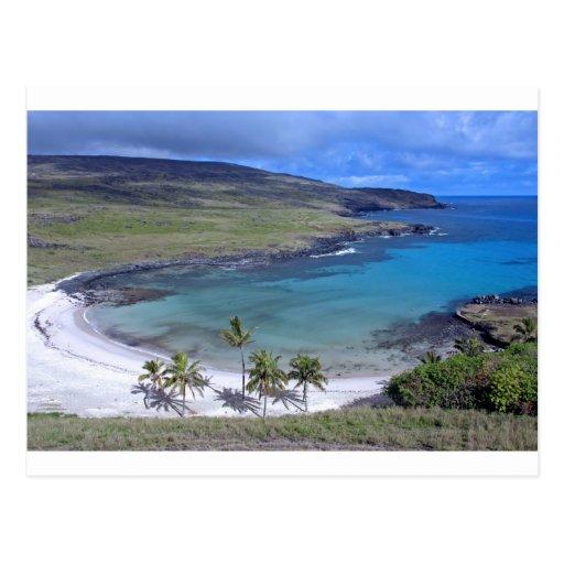 Anakena Beach Easter Island Postcards