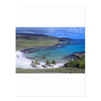 Anakena Beach Easter Island Postcard