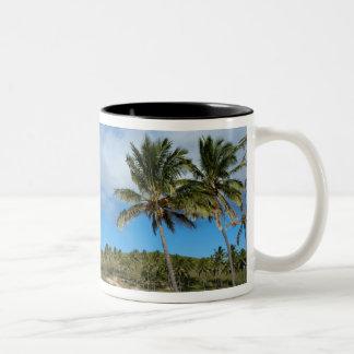 Anakena, Rapa Nui, Easter Island, Chile Two-Tone Coffee Mug