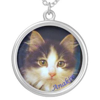 Anakin Two Legged Cat, Cute Kitten Round Necklace