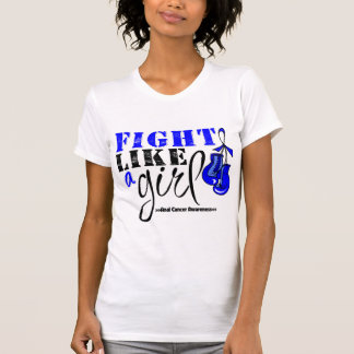 Anal Cancer Awareness Fight Like a Girl Tshirts