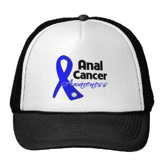 Anal Cancer Awareness Ribbon Mesh Hats