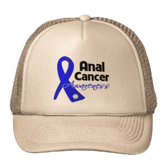 Anal Cancer Awareness Ribbon Trucker Hats