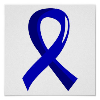 Anal Cancer Blue Ribbon 3 Poster
