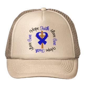 Anal Cancer Faith Hope Love Cross Hats