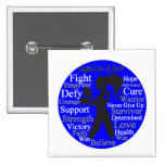 Anal Cancer Fight Like A Girl Collage Pinback Button