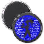 Anal Cancer Fight Like A Girl Collage Magnet