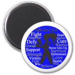Anal Cancer Fight Like A Girl Collage Magnets