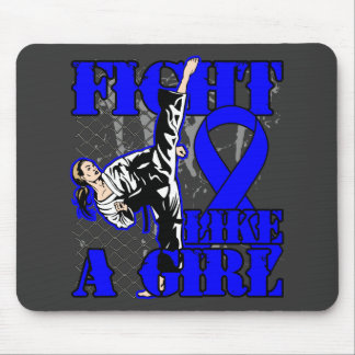 Anal Cancer Fight Like A Girl Kick Mouse Pad