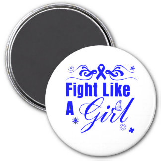 Anal Cancer Fight Like A Girl Ornate Magnet