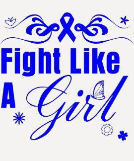 Anal Cancer Fight Like A Girl Ornate Shirt