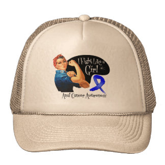 Anal Cancer Fight Like a Girl Rosie The Riveter Hat