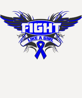 Anal Cancer Fight Like a Girl Wings.png Tee Shirts