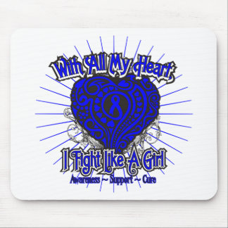 Anal Cancer Heart I Fight Like A Girl Mouse Pad