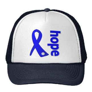 Anal Cancer Hope Ribbon Trucker Hat