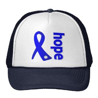 Anal Cancer Hope Ribbon Mesh Hat