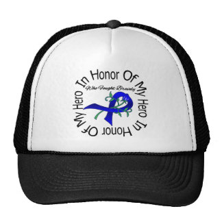 Anal Cancer In Honor Of My Hero Who Fought Bravely Mesh Hat