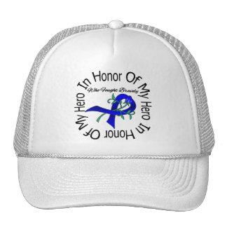 Anal Cancer In Honor Of My Hero Who Fought Bravely Trucker Hat