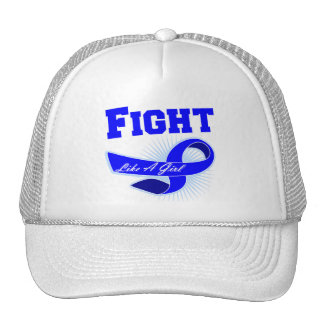 Anal Cancer Sporty Fight Like A Girl Mesh Hat
