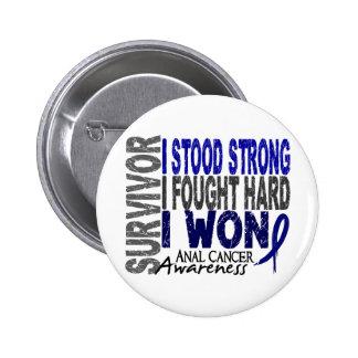 Anal Cancer Survivor 4 6 Cm Round Badge