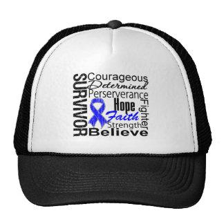 Anal Cancer Survivor Collage Trucker Hats