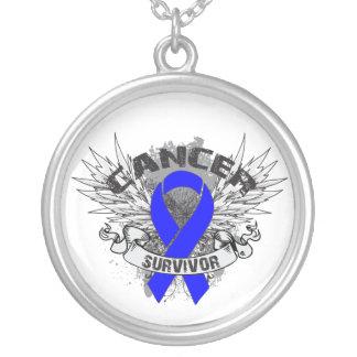 Anal Cancer Survivor Grunge Winged Custom Necklace