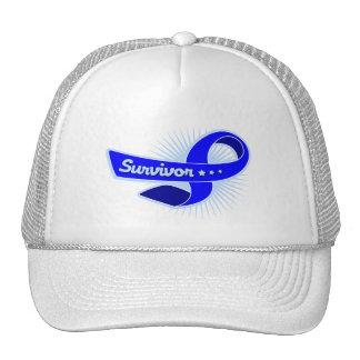 Anal Cancer Survivor Ribbon Mesh Hats