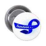 Anal Cancer Survivor Ribbon Pinback Button
