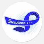 Anal Cancer Survivor Ribbon Round Sticker
