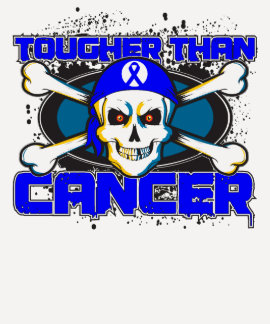 Anal Cancer Tougher Than Cancer Skull T-shirts