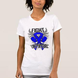 Anal Cancer Ultra Fight Like A Girl Tee Shirts