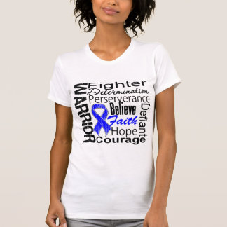 Anal Cancer Warrior Collage T Shirts