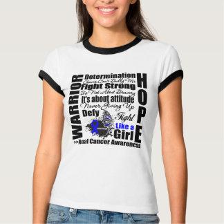 Anal Cancer Warrior Fight Slogans T-shirt