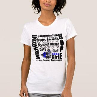 Anal Cancer Warrior Fight Slogans Tee Shirt