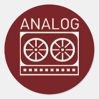 Analog (cassette) round sticker
