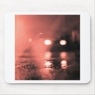 Analog photo of tarmac of street AT night with to