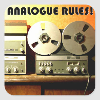 Analogue rules stickers
