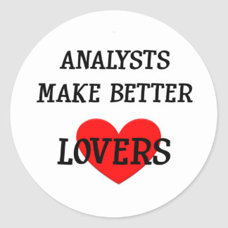 Analysts Make Better Lover Round Sticker