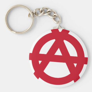 Anarchism Basic Round Button Key Ring