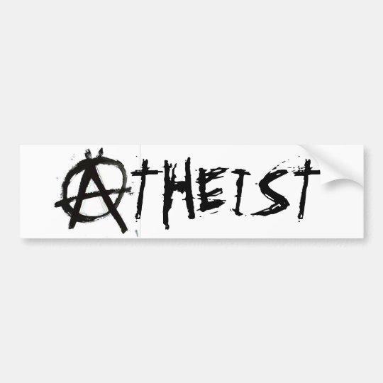 ANARCHIST ATHEIST BUMPER STICKER